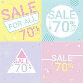 Sale Banner Pastel