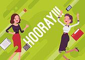 Hooray. Business motivation poster