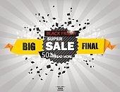 Black Friday sale inscription design template. Black Friday banner.