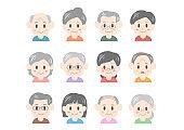 Illustration of older person