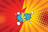 Fight backgrounds comics style design. Vector illustration.