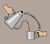 Hand Pouring Coffee