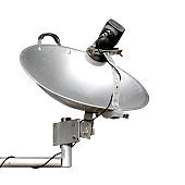 local satellite dish made from pan