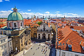 Prague city skyline, Prague, Czech Republic