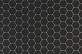 Graphene atomic structure on black background