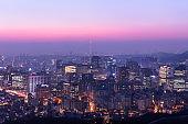 View of Seoul South Korea.