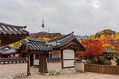 Autumn season of  Namsangol Hanok Village
