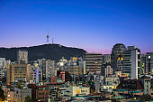 Sunset, Seoul tower