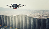 drone on border wall
