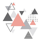 Abstract scandinavian geometric background. Modern and stylish abstract design poster, cover, card design. Scandi style.