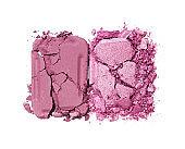 Pink crushed eyeshadow for make up