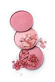 Pink crushed eyeshadows