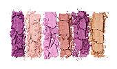 Multicolored crushed eyeshadows