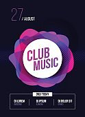 Party Flyer. Club music poster. DJ lineup