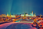 Winter night in Moscow