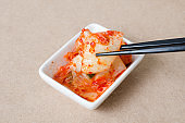Kimchi cabbage in a bowl ready to eating