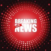 Live Breaking News headline in red dotted color background