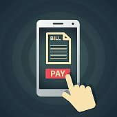Pay bills online by smart phone