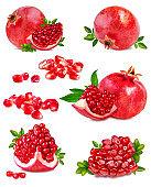 Fresh pomegranate isolated on white