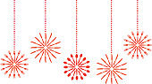 Hanging Red Silverware Snowflakes