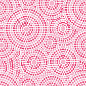 Romantic valentine art print with pink concentric circles