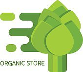 Vector icon  for organic store