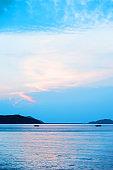 Beautiful sunset sky and ocean
