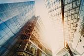 Office skysrapers in the sun