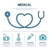 Medical equipment infographic concept. Vector illustration.