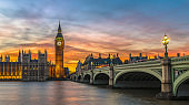 Big Ben and Houses of Parliament at sunset, London