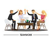 Team Teamwork Join Hands Partnership Concept