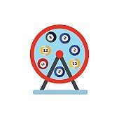 Lotto machine vector icon