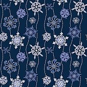 Seamless_Pattern_Snowflakes_Fun_Doodle_Navy_Blue_Background