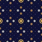 Vector snowflake seamless pattern. Winter holiday background, line snowflakes icons