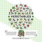 Vegetables card concept Organic shop Natural product Vegetarian food Veggie