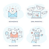 Email marketing concept icon.