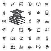 book and Graduation Cap icon