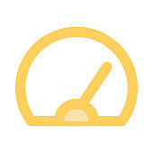 speed meter Colour Line Vector Icon