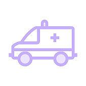ambulance colour line vector icon