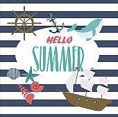 Hello summer  inspiration card
