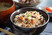 Japanese Mixed Rice with Miso Soup