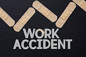 The word of Work Accident. Health care concept