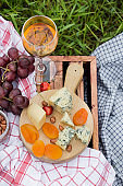 Picnic at the park on the grass