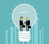 Start-Up with businessman
