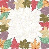 Leaf background .