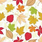 Leaf seamless pattern .