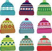 Set of hats .