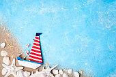 Summer holiday background. Sea card. Vacation season