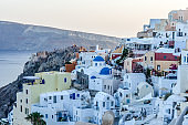 Town of Oia during sunset - Santorini, Greece