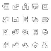 Protection and security icon set